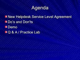 Help Desk Service Level Agreement Altiris My Helpdesk Console Training