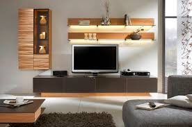 Wall Tv Stands Furniture Dark Stained Wood Tv Stand With Shelf Combined Wall