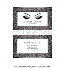 makeup artists business cards makeup artist business card vector template eps vectors search