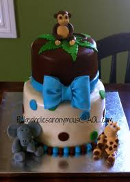safari baby shower cake for a boy polka dots cakecentral com