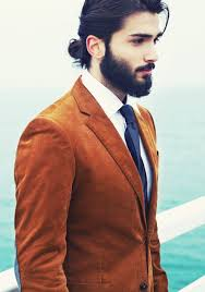 man bun hairstyle ideas with beard for black hair people
