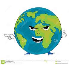 angry globe cartoon stock illustration image 44049615