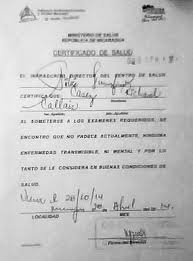 nicaraguan health certificate for residency nicaconexiones