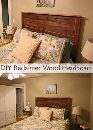 Wood Headboard Diy Diy Reclaimed Wood Headboard Under 25