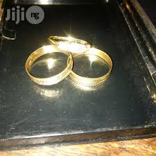 wedding rings in lagos italy 750 tested 18krt gold wedding ring set for sale in