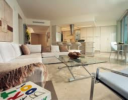 minimalist condo great room open kitchen layout rem