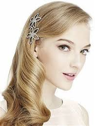 medium hair styles with barettes 97 best hair barrettes images on pinterest bridal hairstyles