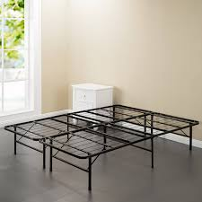 belleze foldable bed frame king size platform size mattress