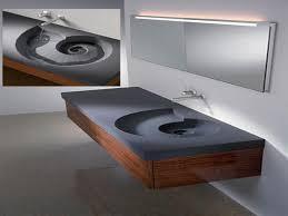 decorative floating bathroom sink on bathroom with floating sinks