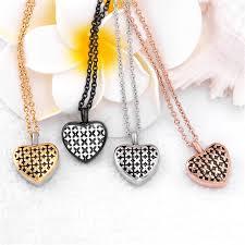 ashes locket impressjewelry charm unisex design heart ashes keepsake cremation