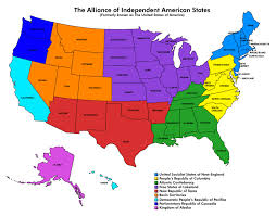 United States Map With State Names And Capitals by The Alliance Of Independent American States Tears In Rain