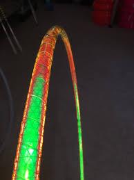 helix led hoop highly reflective uv firefly performance hula hoop led hula