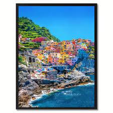 mediterranean sea italy landscape photo wall art home décor frame