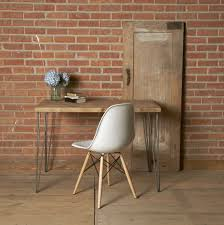 Rustic Modern Desk by Modern Desk For Small Space With Black Wooden Trishaw Leg