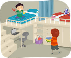 cleaning bedroom clipart