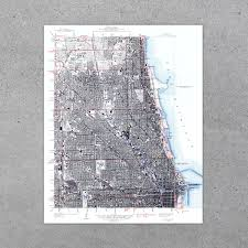 Chicago Il Map Chicago Il 1939 Usgs Map
