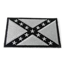 Confederate Flag Wallet Subdued Gray Confederate Flag Patch