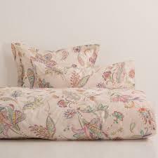 pink floral print bed linen bed linen linen bedroom and linen