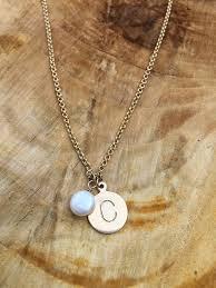 Intial Necklace 14k Gold Initial Necklace Custom Jewelry Heidijhale