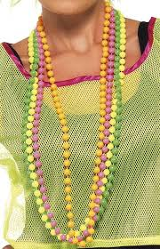 bead necklace pink images 80 39 s neon bead necklace set candy apple costumes 60s and 70s jpg