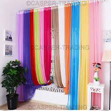 Pastel Coloured Curtains Coloured Voile Curtains U0026 Pelmets Ebay