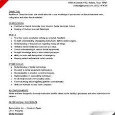 Dental Hygienist Resume Objective Registered Dental Assistant Cover Letter