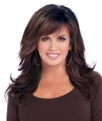 wigs medium length feathered hairstyles 2015 marie osmond hairstyles feathered layers marie osmond marie