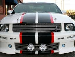 Black Mustang With Green Stripes Mustang House Of Grafx Your One Stop Vinyl Graphics Shop