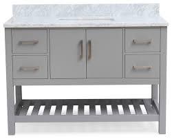 Grey Bathroom Vanity by Piacenza Gray Bathroom Vanity With Carrara Marble Top And 4
