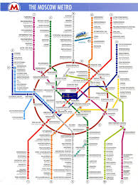 Moscow Metro Map by Pictures Moscow 2009