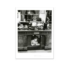 jfk with john jr under resolute desk poster at the john f