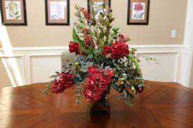 large floral arrangements for dining room table dining room