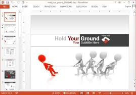animated tug of war powerpoint template