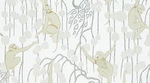 monkey wallpaper for walls deco monkeys wallpaper in biscuit from de gournay walls stash
