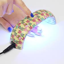 9w mini led nail dryer curing lamp machine uv gel nail polish at