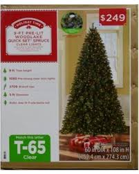 amazing deal on time pre lit 9 woodlake spruce artificial