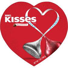 chocolate heart box hershey s milk chocolate kisses heart box celebrate with hershey s
