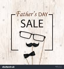 fathers day sale template flyer brochure stock illustration