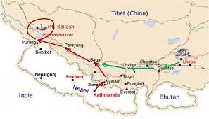 Map Of Nepal And Tibet by Maanasa Kailasa Yatra 2 Athato