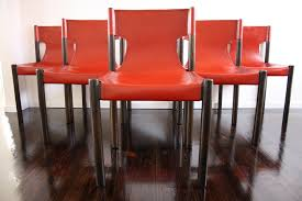Mid Century Leather Chairs Fler Mid Century Red Leather Slingback Dining Chairs Retro Vintage