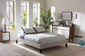Upholstered King Size Bed Baxton Studio Aubrey Grayish Beige Upholstered King Size Headboard