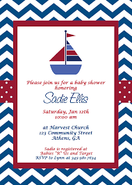 sailor baby shower sailor ba shower invitations theruntime sailor baby shower