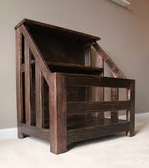 Wooden Toy Box Plans by Ana White Kendra Storage Console Aka Bookshelf Toybox Diy