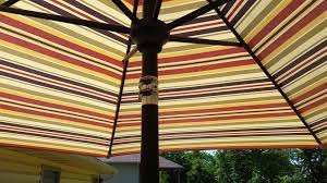 Patio Umbrella Parts Repair by Fix A Leaning Patio Umbrella With Hose Clamps Youtube