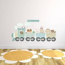 animal wall stickers animal train fabric wall sticker children s room