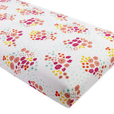 Organic Nursery Bedding Sets by Organic Flower Show Crib Fitted Sheet The Land Of Nod