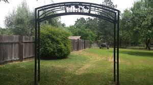 stolen east sac park trellis found at backyard wedding
