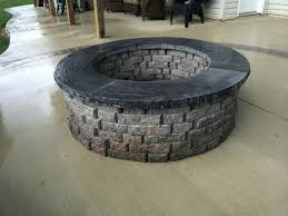Concrete Patio Stone Molds by Articles With Building Fire Pit Concrete Blocks Tag Terrific Fire