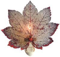 still leaves real leaf ornaments and nite lights tideline