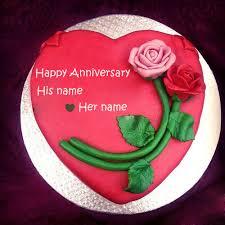 Wedding Wishes Editing Write Name On Rose Wedding Anniversary Cake Profile Pic